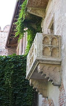 Juliet balcony in Casa di Giulietta, Verona, Italy