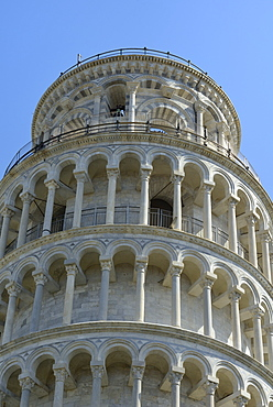 Leaning Tower (Torre Pendente), Piazza del Duomo (Cathedral Square), Campo dei Miracoli, UNESCO World Heritage Site, Pisa, Tuscany, Italy, Europe