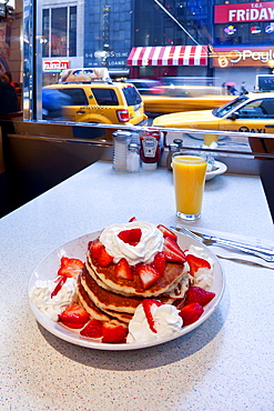 Pancakes, Mid Town Manhattan Diner, New York, United States of America, North America
