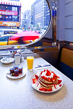 Pancakes, Mid Town Manhattan Diner, New York, United States of America, North America