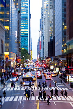 42nd Street in Mid Town Manhattan, New York City, New York, United States of America, North America