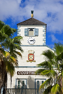 The Courthouse in the Dutch capital of Philipsburg, St. Maarten, Netherlands Antilles, Leeward Islands, West Indies, Caribbean, Central America
