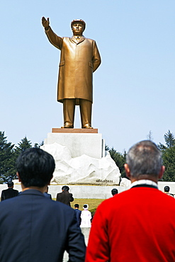 Statue of Kim Il Sung, Hamhung, Democratic People's Republic of Korea (DPRK), North Korea, Asia