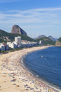 Copacabana beach and Sugar Loaf, Rio de Janeiro, Brazil, South America