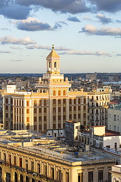Architecture from an elevated view near the Malecon, Havana, Cuba, West Indies, Central America