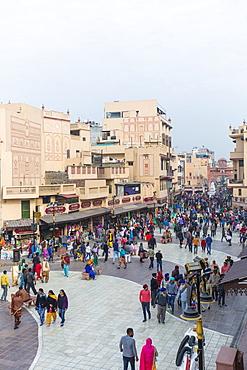 Heritage Street, pedestrian only walking street to the Golden Temple, Amritsar, Punjab, India, Asia