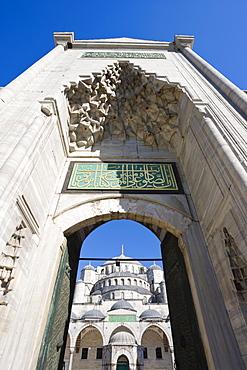The Blue Mosque (Sultan Ahmet) in Sultanahmet, Istanbul, Turkey, Europe