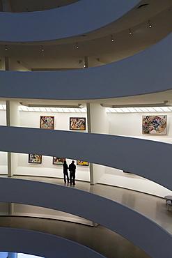 Interior of the Guggenheim Museum, New York City, New York, United States of America, North America