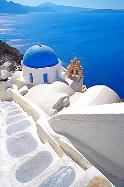 Church in Oia, Santorini Island, Cyclades, Greek Islands, Greece, Europe