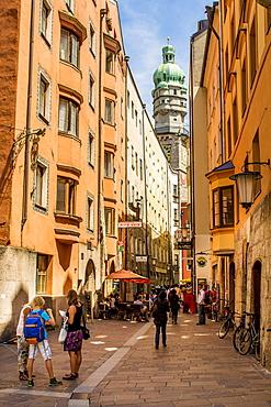 Clock Tower, Old Town, Innsbruck, Tyrol, Austria, Europe