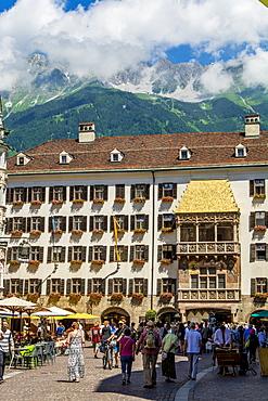 Golden Roof (Goldenes Dachl) balcony, Old Town, Innsbruck, Tyrol, Austria, Europe