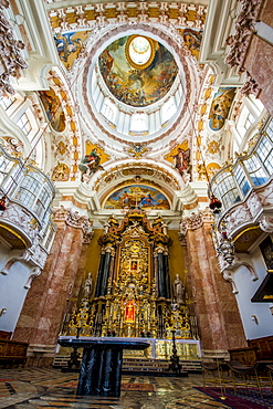Ceiling of Cathedral of St. James, Old Town, Innsbruck, Tyrol, Austria, Europe