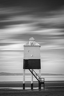 Wooden lighthouse at Burnham-on-Sea, Somerset, England, United Kingdom, Europe