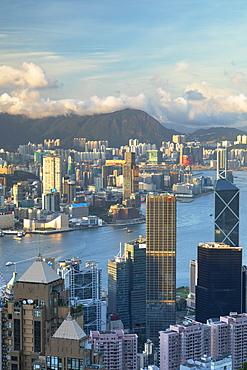 Skyline of Hong Kong Island and Kowloon, Hong Kong, China, Asia