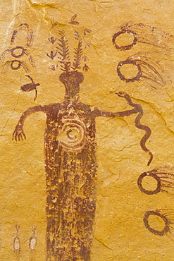Head of Sinbad Pictograph Panel, San Rafael Swell, Utah, United States of America, North America