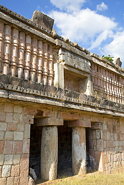 Mayan Ruins, The Palace, Puuc Style, Chacmultun Archaeological Zone, Chacmultan, Yucatan, Mexico, North America