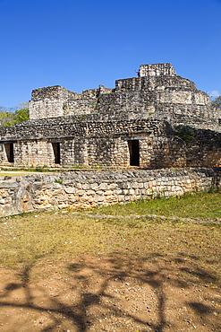 Oval Palace, Ek Balam, Yucatec-Mayan Archaeological Site, Yucatan, Mexico, North America