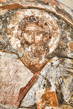 Original 17th century frescoes, Church of the Holy Apostles dating from the 10th century, Ancient Agora, Athens, Greece, Europe