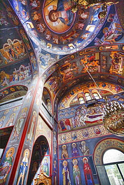 Frescoes, St. Johns Forerunner's Parish, Athens, Greece, Europe