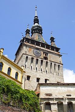 Clock Tower, Sighisoara, UNESCO World Heritage Site, Mures County, Transylvania Region, Romania, Europe