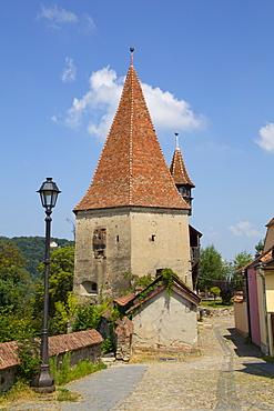 Shoemaker's Tower, Sighisoara, UNESCO World Heritage Site, Mures County, Transylvania Region, Romania, Europe