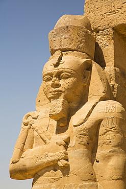 Statue of Ramses II, Garf Hussien Temple, Kalabsha, UNESCO World Heritage Site, near Aswan, Nubia, Egypt, North Africa, Africa