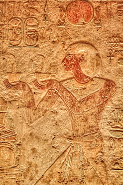 Ramses II, Bas Relief, Beit al-Wali Temple, Kalabsha, UNESCO World Heritage Site, near Aswan, Nubia, Egypt, North Africa, Africa