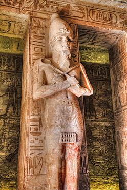 Ramses II statue, Hypostyle Hall, Ramses II Temple, UNESCO World Heritage Site, Abu Simbel, Nubia, Egypt, North Africa, Africa