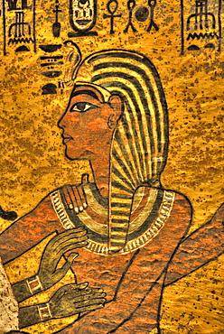 Young King Tut, Tomb of Tutankhamun, KV62, Valley of the Kings, UNESCO World Heritage Site, Luxor, Thebes, Egypt, North Africa, Africa