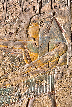 Relief of the Goddess Isis, Tomb of Ramses III, KV11, Valley of the Kings, UNESCO World Heritage Site, Luxor, Thebes, Egypt, North Africa, Africa