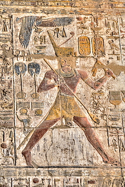 Pharaoh, Bas Reliefs, Sanctuary, Luxor Temple, UNESCO World Heritage Site, Luxor, Thebes, Egypt, North Africa, Africa