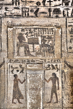 Frescoes, Tomb of Mekhu and Sabni, Tombs of the Nobles, Aswan, Egypt, North Africa, Africa