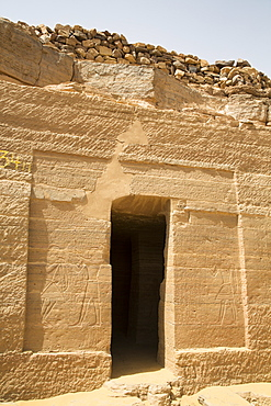 Entrance, Tomb of Harkhuf, Tombs of the Nobles, Aswan, Egypt, North Africa, Africa