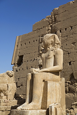 Colossus of Tuthmosis III, Eighth Karnak Temple Complex, UNESCO World Heritage Site, Luxor, Thebes, Egypt, North Africa, Africa