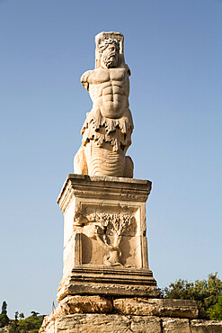 Statue, Odeon of Agrippa, Ancient Agora, Athens, Greece