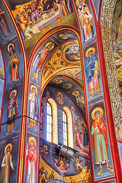 Frescoes, Holy Church of St. Nicoloas, Koukaki, Athens, Greece, Europe