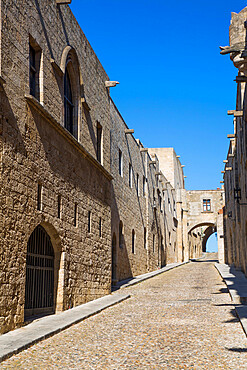 Street of the Knights, Rhodes Old Town, UNESCO World Heritage Site, Rhodes, Dodecanese Island Group, Greek Islands, Greece, Europe