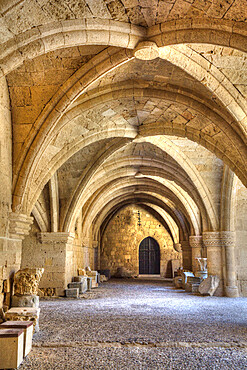 Gothic Architecture, Archaeological Museum, Rhodes Old Town, UNESCO World Heritage Site, Rhodes, Dodecanese Island Group, Greek Islands, Greece, Europe