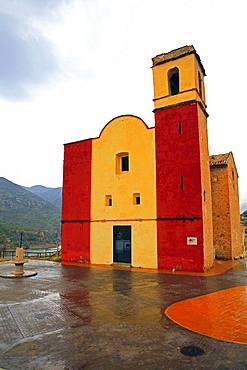 Rural church, near Chulilla, Valencia, Spain, Europe