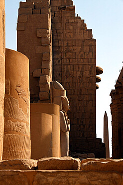 Colossus of Ramesses II, Karnak Temple, UNESCO World Heritage Site, near Luxor, Thebes, Egypt, North Africa, Africa