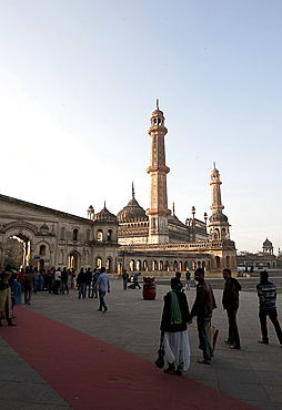 The Bara Imambara at dusk, built by the Nawab of Awadh in 1784. it is among the grandest buildings of Lucknow, Uttar Pradesh, India, Asia