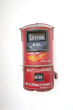 India Post letterbox, Orissa, India, Asia