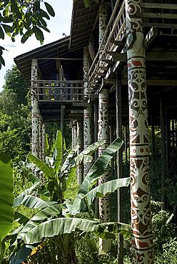 Orang Ulu tribal longhouse, Sarawak Cultural Village, Santubong, Sarawak, Malaysian Borneo, Malaysia, Southeast Asia, Asia