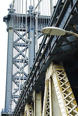 Manhattan Bridge detail, New York City, New York, United States of America, North America
