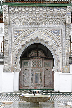 Al Quaraouiyine Mosque, Old Medina (Fes el-Bali), UNESCO World Heritage Site, Fez, Morocco, North Africa, Africa