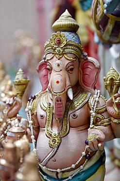Ganesha (Ganapati) the elephant headed Hindu god, Sri Mahamariamman Hindu Temple, Kuala Lumpur. Malaysia, Southeast Asia, Asia