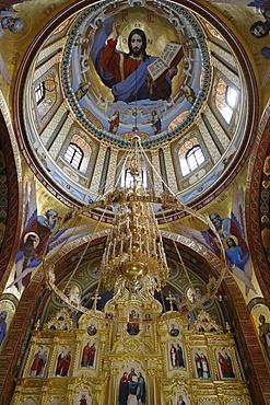 Inside one of the churches, Curchi Monastery, Curchi, Moldova, Europe