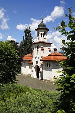 Curchi Monastery porch, Curchi, Moldova, Europe