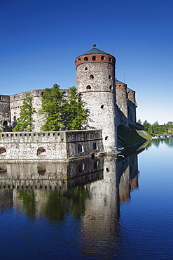 Olavinlinna Medieval Castle, (St. Olaf's Castle), Savonlinna, Saimaa Lake District, Savonia, Finland, Scandinavia, Europe