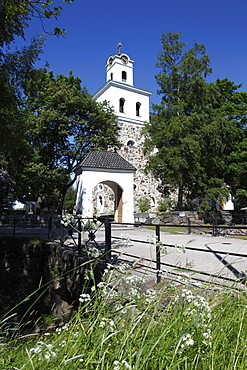 Historic stone Church of Holy Cross, Rauma, UNESCO World Heritage Site, Satakunta, Finland, Scandinavia, Europe